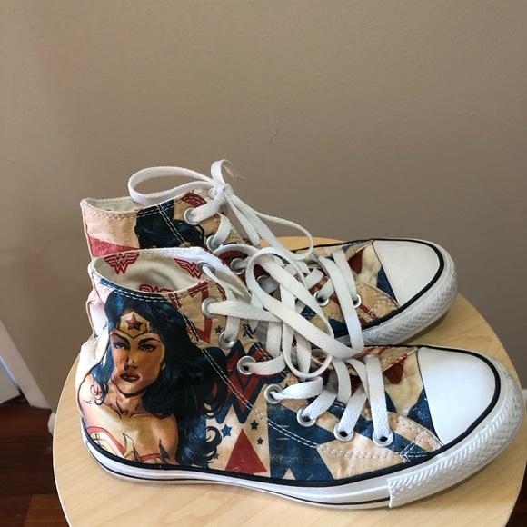 wonder woman converse shoes for sale